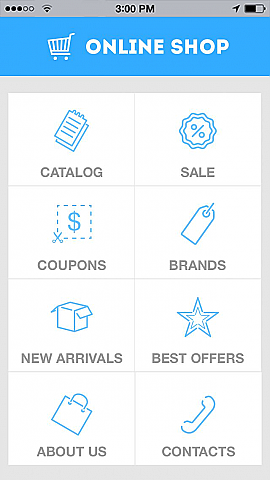 Online Shop 8 App Templates