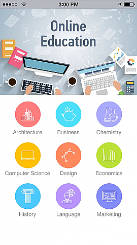 Online Education 3 App Templates