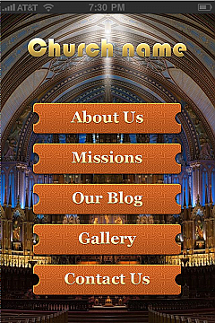 iBuildApp Church Tmpl App Templates