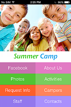 Summer Camp App Templates